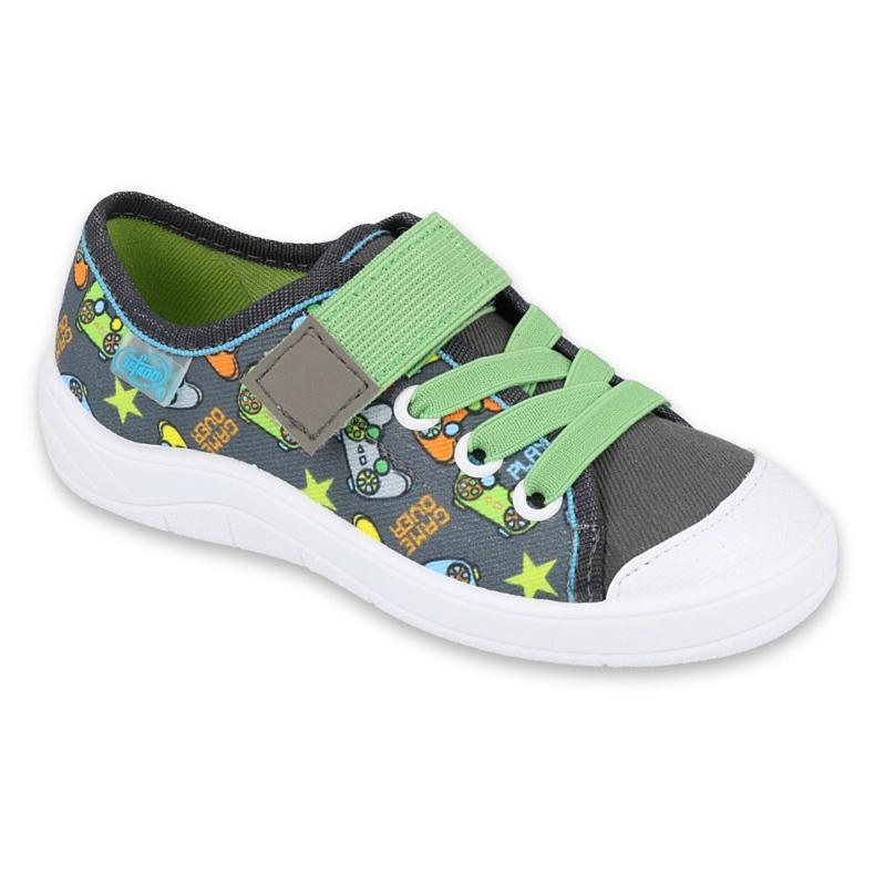 Befado obuwie dziecięce  251Y164 szare wielokolorowe zielone