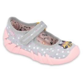 Befado obuwie dziecięce  109P208 różowe szare wielokolorowe
