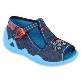 Befado obuwie dziecięce 217P110 czerwone granatowe niebieskie wielokolorowe