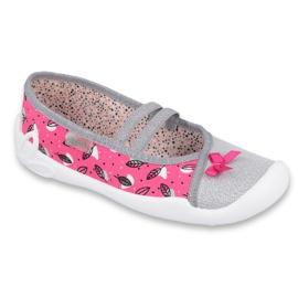 Befado obuwie dziecięce 116Y288 różowe szare wielokolorowe