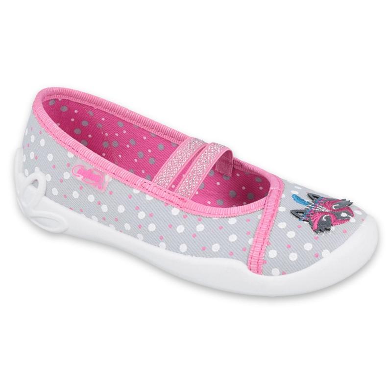 Befado obuwie dziecięce  116X285 różowe szare