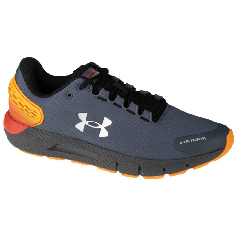 Buty Under Armour Charged Rogue 2 Storm M 3023371-100 pomarańczowe szare