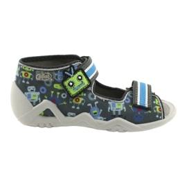 Befado obuwie dziecięce  250P098 niebieskie szare wielokolorowe zielone