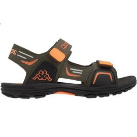 Sandały dla dzieci Kappa Pure K Footwear Kids zielono-pomarańczowe 260594K 3144 zielone