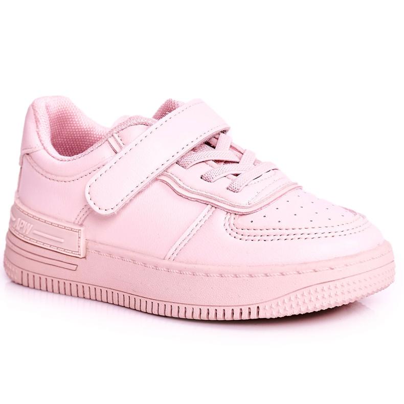 Apawwa Dziecięce Sportowe Buty Na Rzep Różowe Airy