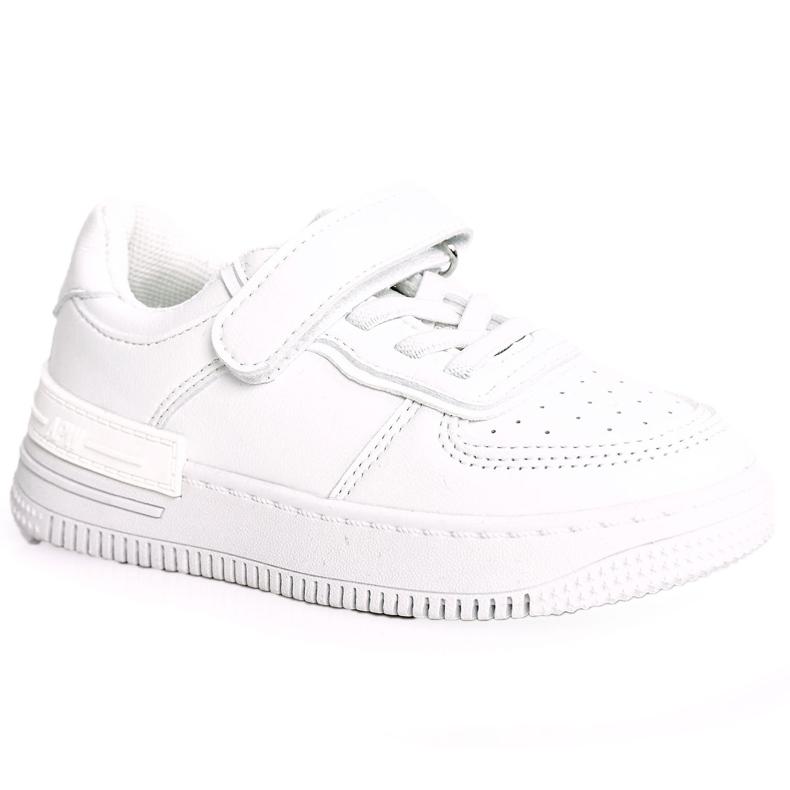 Apawwa Dziecięce Sportowe Buty Na Rzep Białe Airy
