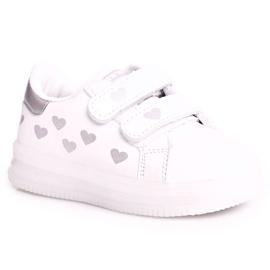 Apawwa Dziecięce Sportowe Buty Ze Świecącą Podeszwą Led Biało-Srebrne Boomer białe srebrny