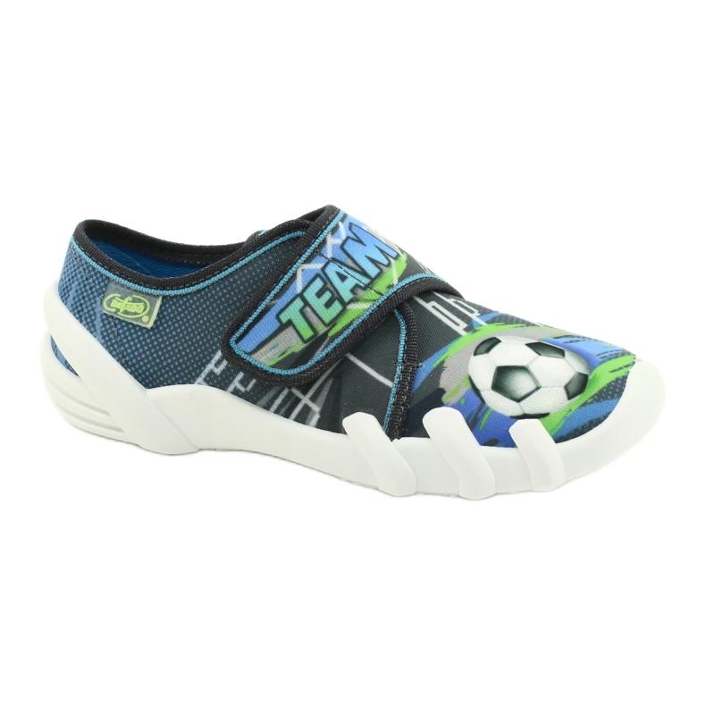 Befado obuwie dziecięce 273X317 niebieskie szare wielokolorowe zielone