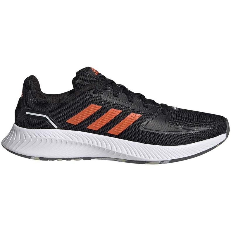 Buty dla dzieci adidas Runfalcon 2.0 K czarno-pomarańczowe FY9500 czarne