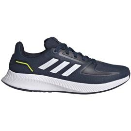 Buty dla dzieci adidas Runfalcon 2.0 K granatowe FY9498 białe