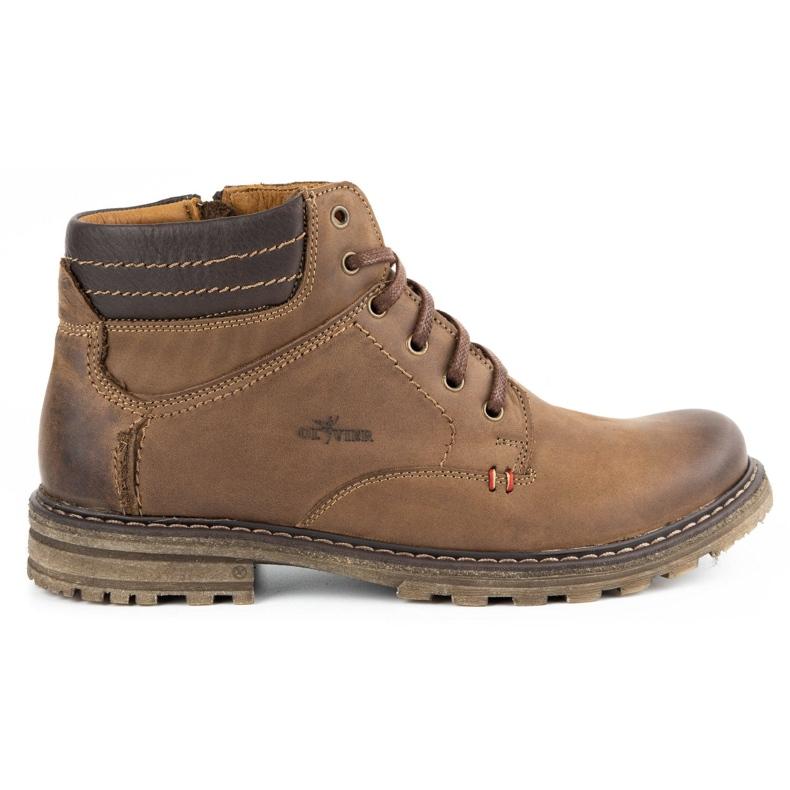 ABIS Ocieplane buty męskie 197 brązowe