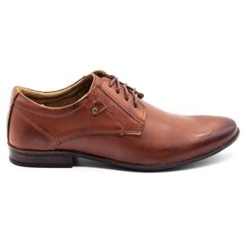 KOMODO Wizytowe buty męskie 850 brązowe