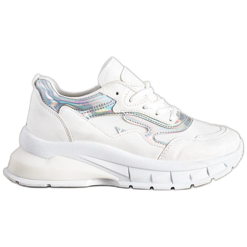 Sweet Shoes Stylowe Białe Sneakersy