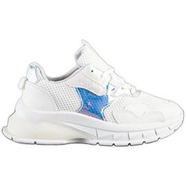 SHELOVET Modne Sneakersy białe