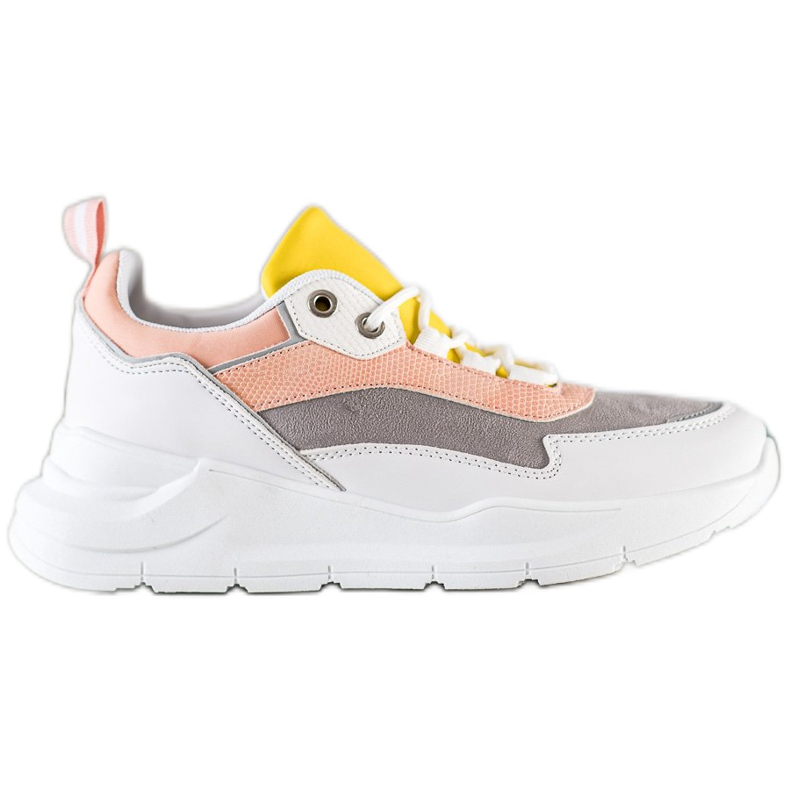 SHELOVET Stylowe Sznurowane Sneakersy wielokolorowe
