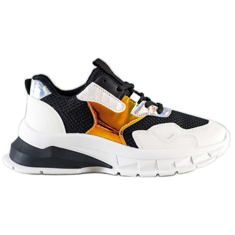 SHELOVET Modne Sneakersy białe czarne wielokolorowe
