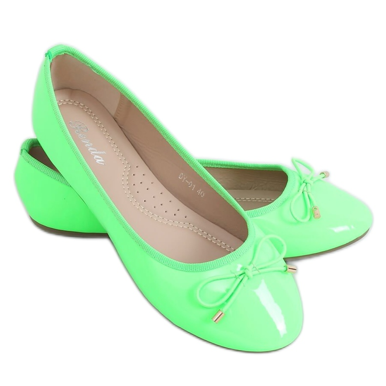 Baleriny neonowe zielone DY-01 Green
