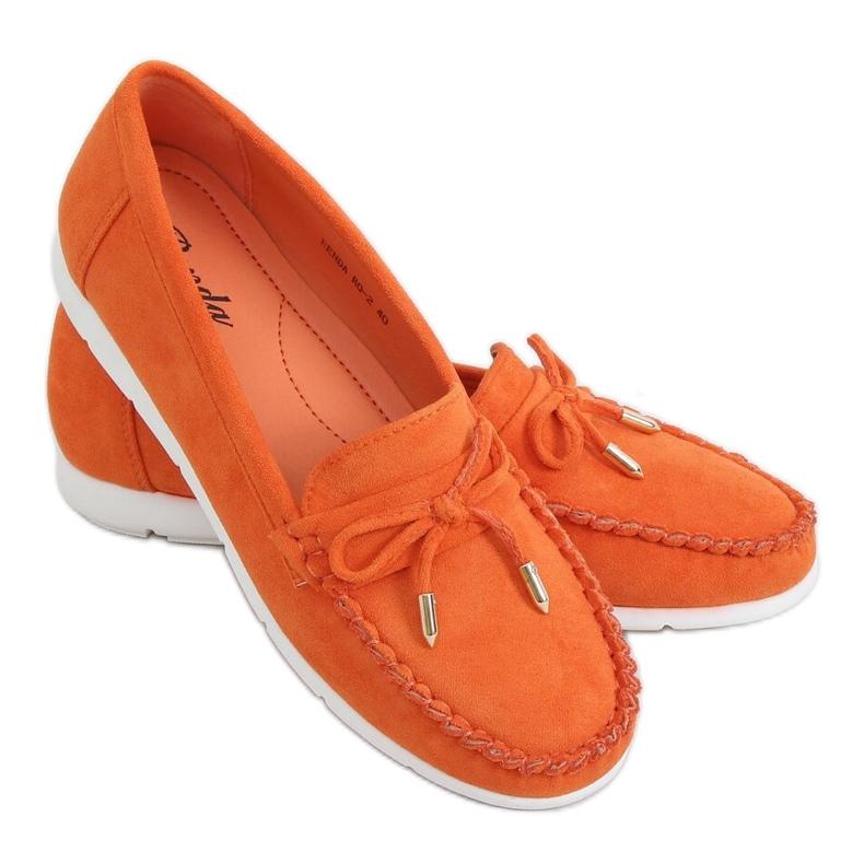 Mokasyny damskie pomarańczowe RQ-2 Orange