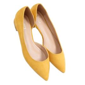 Baleriny z wycięciem miodowe MM-593 Yellow żółte
