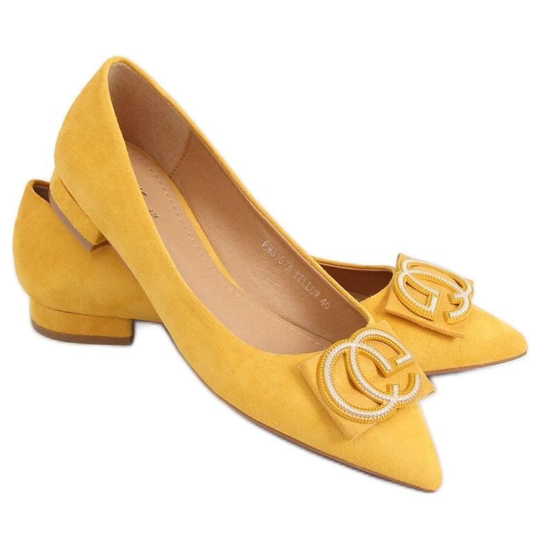 Baleriny migdałowe noski miodowe FM3107A Yellow żółte