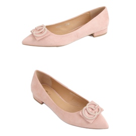 Baleriny migdałowe noski różowe FM3107A Pink