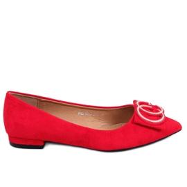 Baleriny migdałowe noski czerwone FM3107A Red