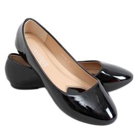Baleriny lakierowane czarne 9988-60 Black