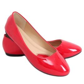 Baleriny lakierowane czerwone 9988-60 Red