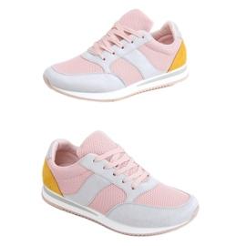 Buty sportowe wielokolorowe SC26 Grey różowe