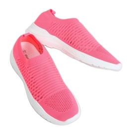 Buty sportowe skarpetkowe różowe 9862 Fushia