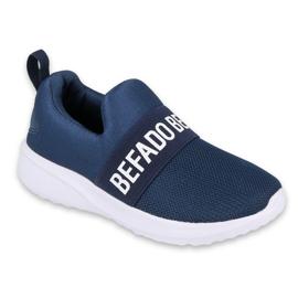 Befado obuwie dziecięce  516X082 niebieskie