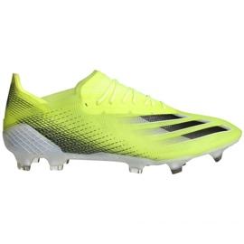 Buty piłkarskie adidas X Ghosted.1 Fg M FW6898 zielone zielony, żółty, neon