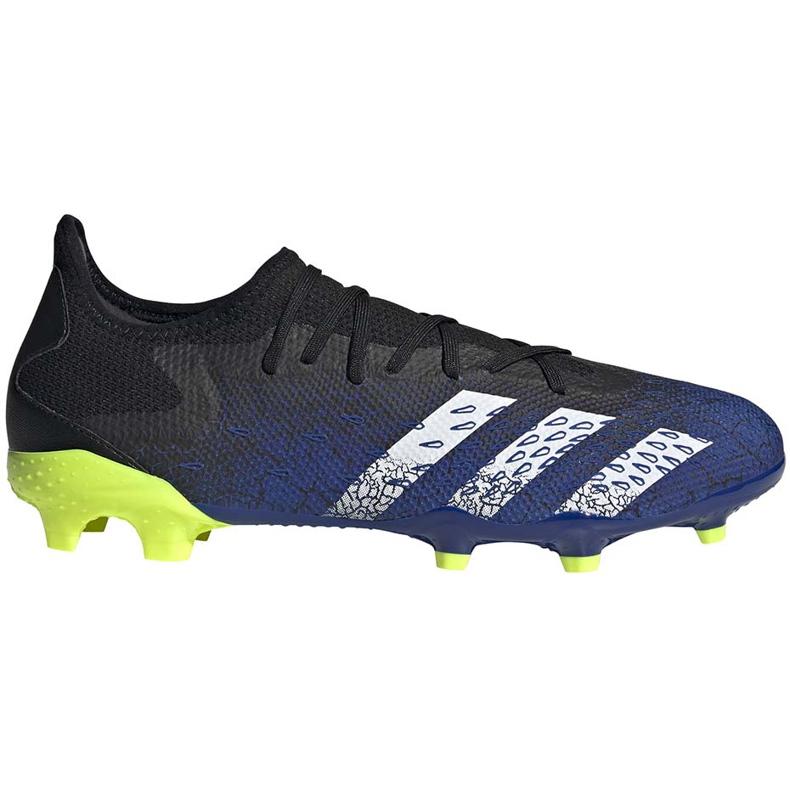 Buty piłkarskie adidas Predator Freak.3 L Fg granatowo-czarno-zielone FY0615 czarne czarne