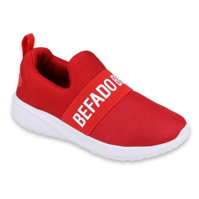 Befado obuwie młodzieżowe  516Q081 białe czerwone