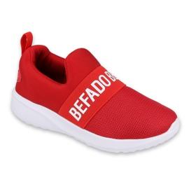 Befado obuwie dziecięce  516Y081 białe czerwone