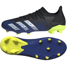 Buty piłkarskie adidas Predator Freak.3 L Fg M FY0615 czarne biały, czarny, royal