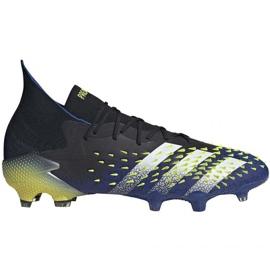 Buty piłkarskie adidas Predator Freak .1 Fg M FY0743 czarne wielokolorowe