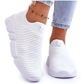 Damskie Sportowe Buty Slip-on Big Star DD274460 Białe