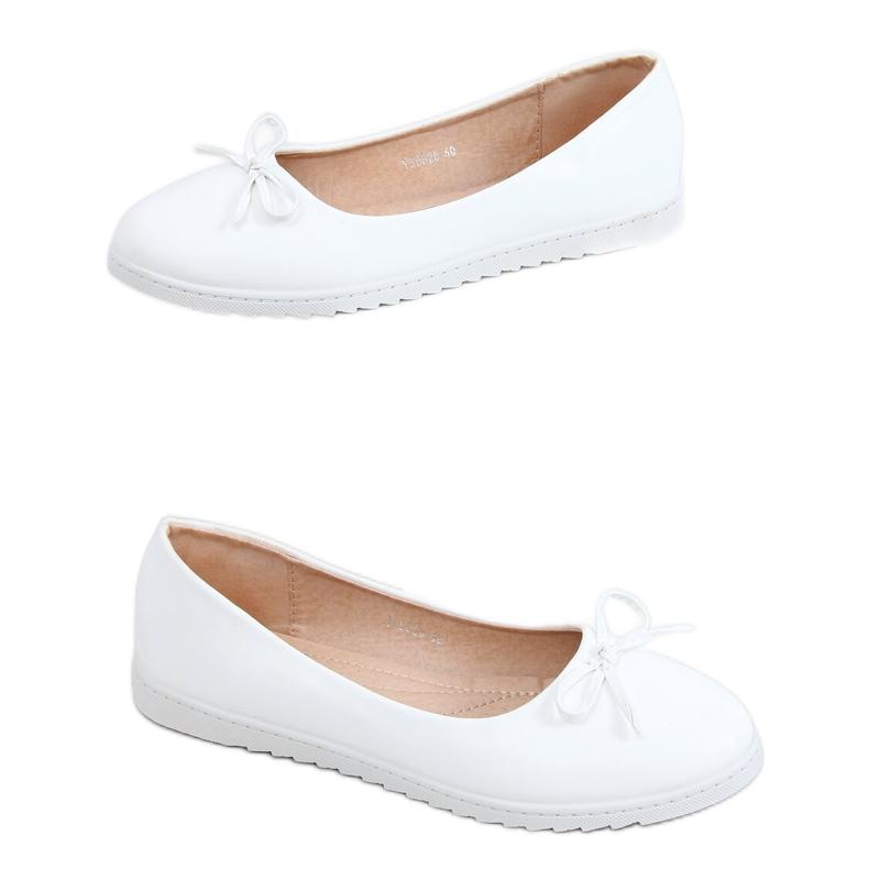 Baleriny damskie białe YSD826 White