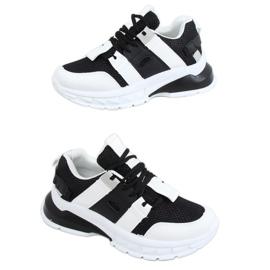 Buty sportowe damskie biało-czarne LA86P Black białe