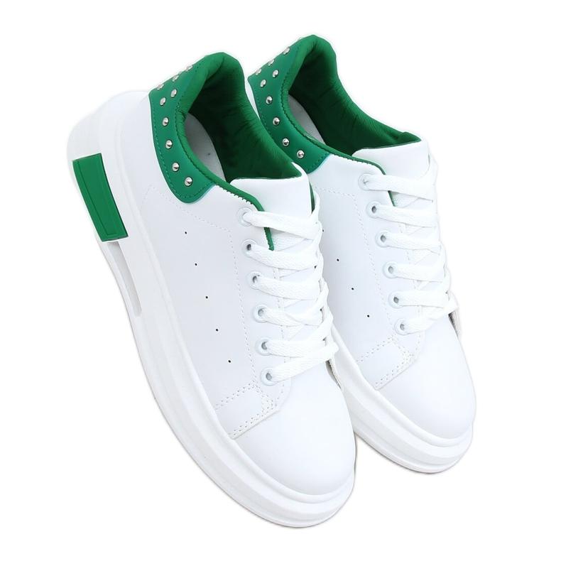 Trampki damskie biało-zielone SC36 WHITE/GREEN białe