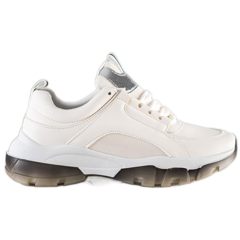 SHELOVET Białe Sneakersy Z Eko Skóry