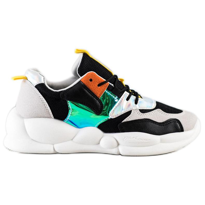Bestelle Sneakersy Na Platformie Fashion czarne srebrny szare wielokolorowe