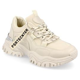 PS1 Damskie Sneakersy Na Masywnej Podeszwie Beżowe Chunky beżowy