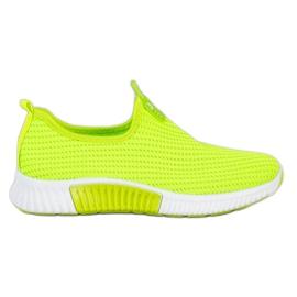 SHELOVET Wygodne Tekstylne Sneakersy zielone