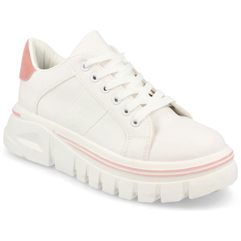 PS1 Damskie Sneakersy Na Platformie Biało Różowe Riri białe
