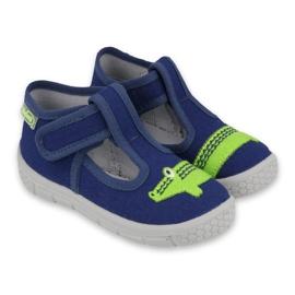 Befado  obuwie dziecięce  531P083 granatowe zielone