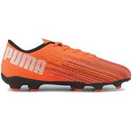 Buty piłkarskie Puma Ultra 4.1 Fg Ag Junior 106100 01 pomarańczowe pomarańczowe