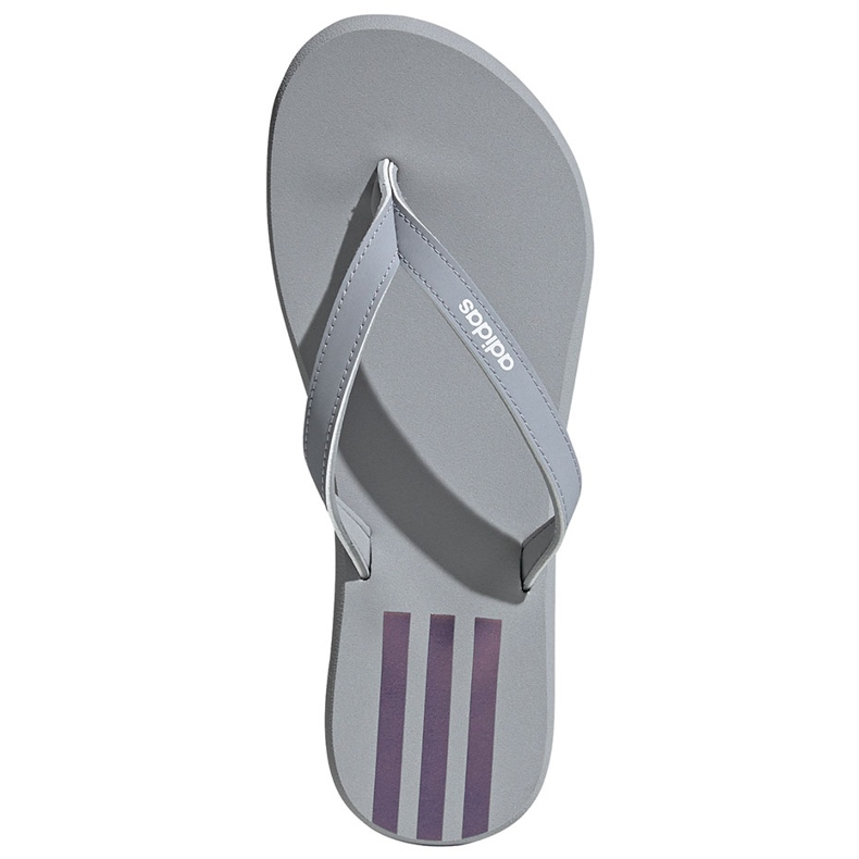 Klapki damskie adidas Eezay Flip Flop szaro-różowe FY8110 szare