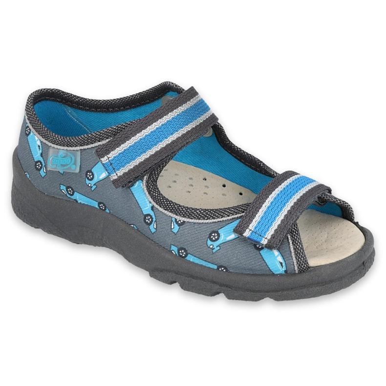 Befado obuwie dziecięce  869X148 niebieskie szare